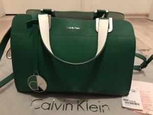 Calvin Klein Sac bowling blanc-vert forêt
