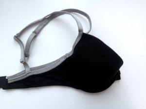 Calvin Klein Bra black-silver-colored cotton