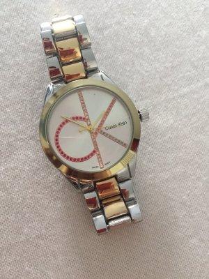 Calvin Klein Reloj con pulsera metálica color plata-color oro