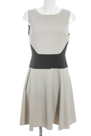 Calvin Klein A-Linien Kleid creme-schwarz Business-Look