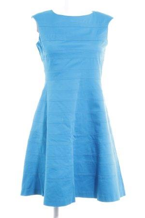 Calvin Klein A-Linien Kleid neonblau Streifenmuster Casual-Look