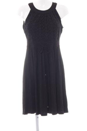 Calvin Klein A-Linien Kleid schwarz Blumenmuster Elegant