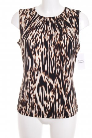 Calvin Klein ärmellose Bluse Animalmuster Business-Look
