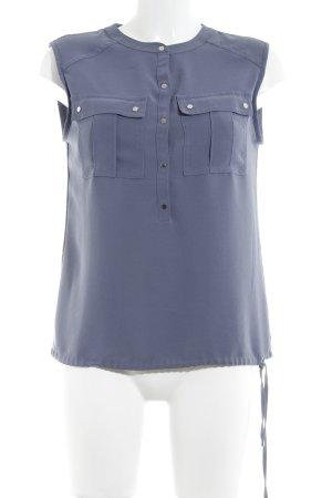 Calvin Klein ärmellose Bluse graublau Casual-Look