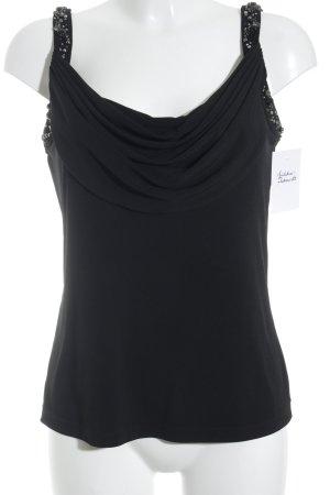 Calvin Klein ärmellose Bluse schwarz Elegant