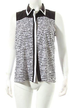 Calvin Klein ärmellose Bluse schwarz-weiß Ringelmuster Business-Look