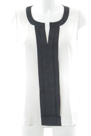 Calvin Klein ärmellose Bluse weiß-schwarz Business-Look