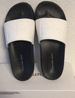 Calvin Klein Mule noir-blanc