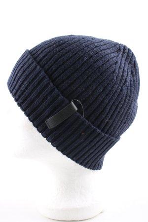 Calvin Klein Berretto blu motivo a righe stile casual