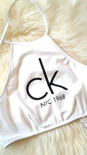 Calvin Klein Bikini Oberteil      Neu mit Etikett       NP 69,95 Euro        weiß Gr XS von Calvin Klein