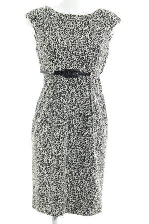 Calvin Klein Bleistiftkleid wollweiß-schwarz abstraktes Muster Elegant