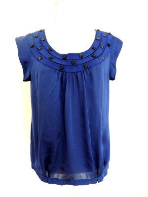 Calvin Klein Blusa brillante azul Poliéster