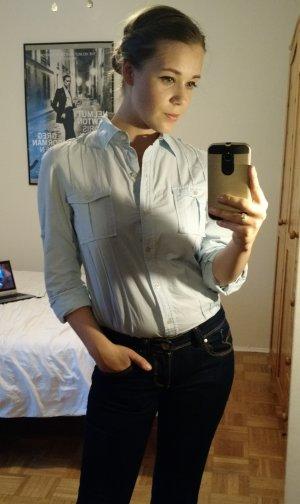 Calvin Klein Bluse Gr. S 36 Business Damen Hemd hellblau büro casual ck office