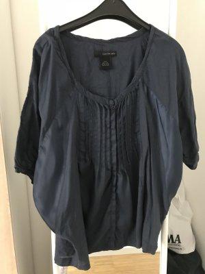 Calvin Klein Bluse Oversized S 36 dunkelblau mit Rüschen