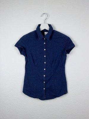 calvin klein bluse shirt S 36 -NEU- blau weiß liniert business casual basic fashion