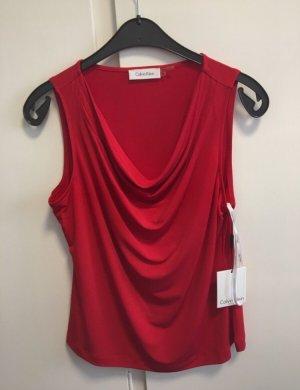 Calvin Klein Cowl-Neck Top dark red