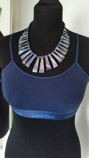Calvin Klein Soutien-gorge bleu foncé tissu mixte