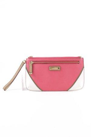 Calvin Klein Clutch pink-weiß Casual-Look