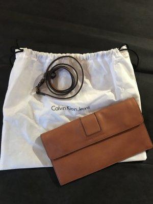 Calvin Klein Clutch cognac