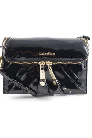 Calvin Klein Clutch schwarz Glanz-Optik