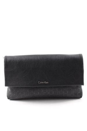 Calvin Klein Clutch schwarz Schriftzug gedruckt Elegant