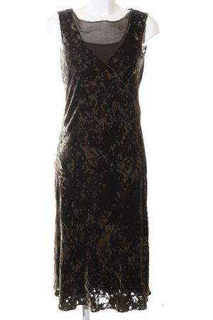 Calvin Klein Cocktailkleid schwarz-creme abstraktes Muster Elegant