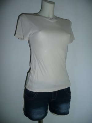 Calvin Klein Collection lässiges Basic Shirt Viscose  nude Gr 36