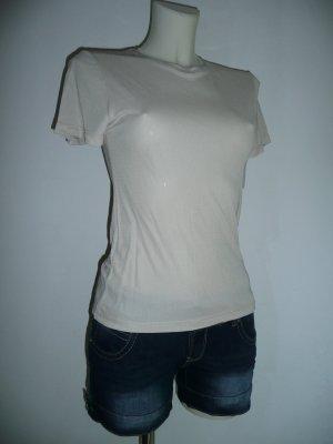 Calvin Klein Collection lässiges Basic Sommer Viscose Shirt nude Gr 36