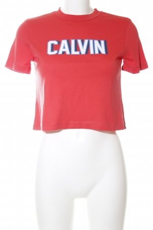 Calvin Klein Cropped Shirt Motivdruck Casual-Look