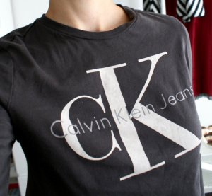 Calvin Klein cropped Shirt - Crop Top langarm aus Baumwolle