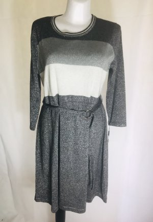 Calvin Klein Damen Kleid Silber Grau Neu XL