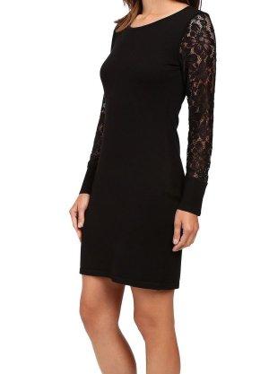 Calvin Klein Damen Schwarz Kleid Pullover Sweaterdress S 36
