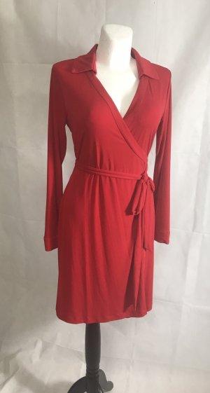 Calvin Klein Vestido cruzado rojo