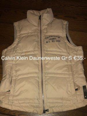 Calvin Klein Down Vest cream-oatmeal