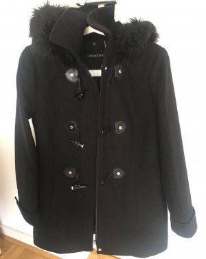 Calvin Klein Duffel Coat black-silver-colored