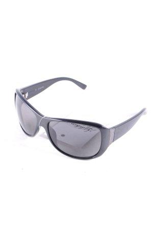 Calvin Klein eckige Sonnenbrille schwarz Elegant