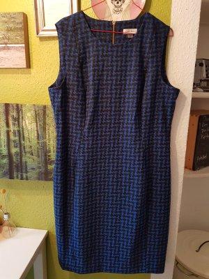 Calvin Klein Etuikleid Größe 44 / 16, Pepita in blau schwarz