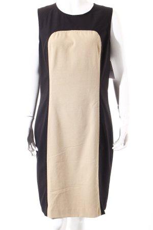 Calvin Klein Etuikleid schwarz-beige Casual-Look