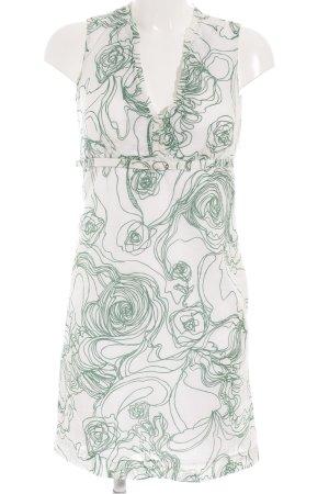Calvin Klein Etuikleid weiß-grün florales Muster Casual-Look