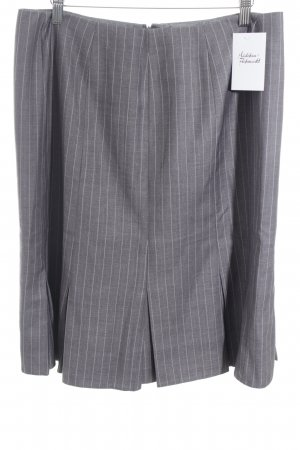 Calvin Klein Plaid Skirt grey-white pinstripe business style