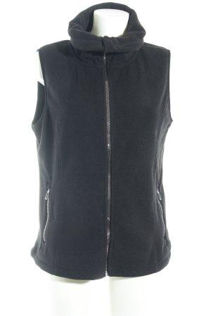 Calvin Klein Fleece vest zwart geborduurde letters casual uitstraling