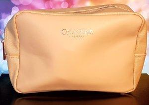 Calvin Klein Fragrances - Kosmetiktasche/ Kulturbeutel, rosegold/ aprikose, NEU