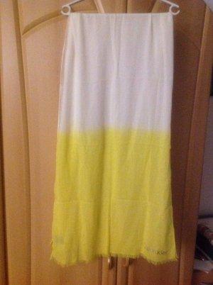 Calvin Klein Gelb weiß Sommerschal