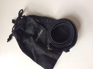 Calvin Klein Jeans Lederen riem zwart