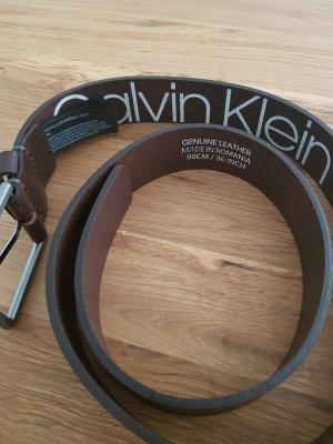 Calvin Klein Gürtel Leder Braun 90 cm