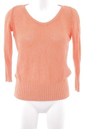 Calvin Klein Pullover all'uncinetto salmone modello web stile casual