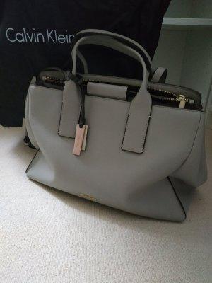 Calvin Klein Handbag silver-colored imitation leather
