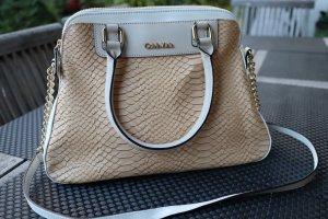 Calvin Klein Handtasche, beige aprikot weiß, neuwertig