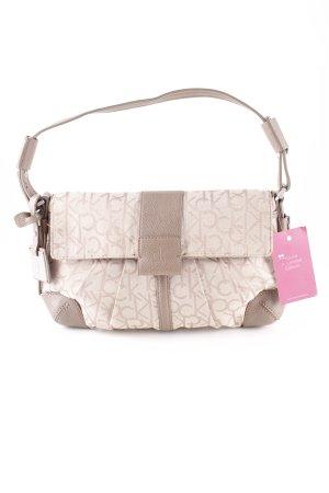 Calvin Klein Handtasche beige Monogram-Muster Casual-Look