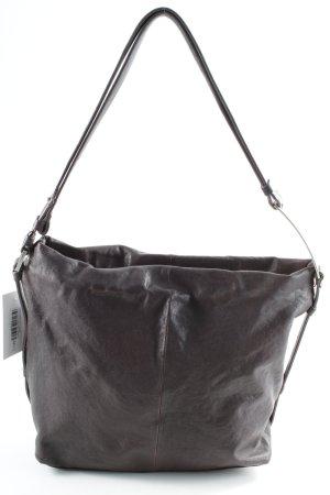 Calvin Klein Handtasche braunrot-silberfarben Elegant